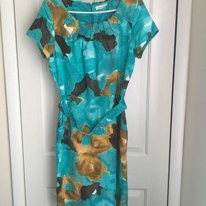 💙 Calvin Klein Short Sleeve Dress with Belt